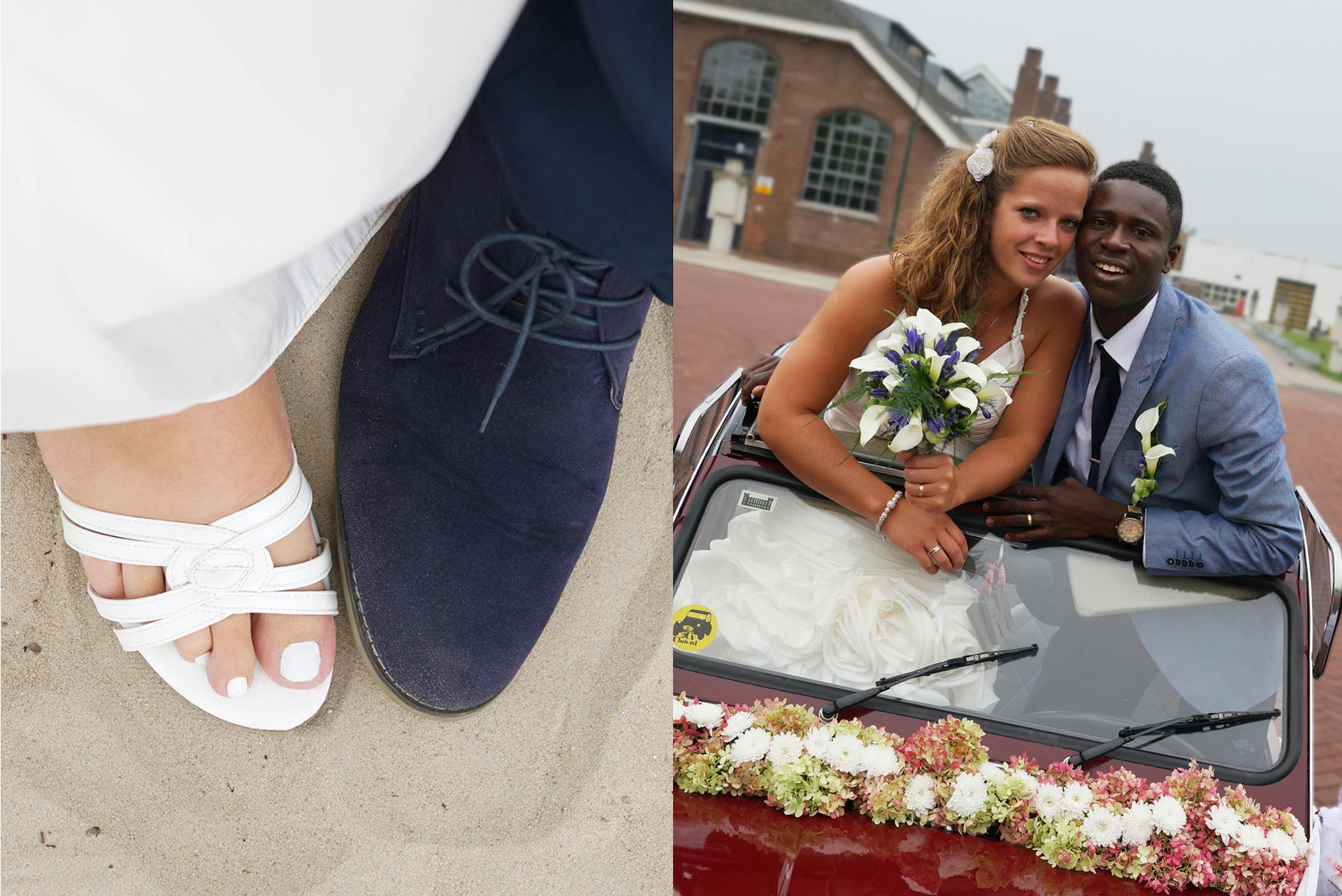 Pas getrouwd trouwen trouwdag trouwfotograaf